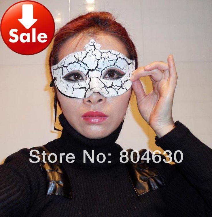 Трещина женщина маска венецианский маскарад партия украшения mardi gras костюм хип-хоп танец маска рождественский подарок 50 шт./лот смешать цвет