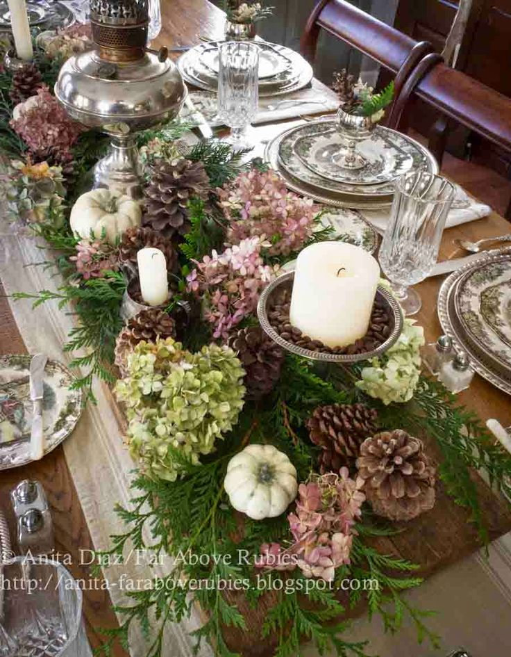 571 best fall thanksgivingtablescapes images on for Elegant table setting for thanksgiving