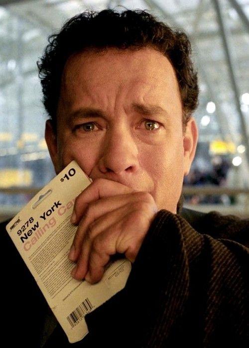 Tom Hanks as Viktor Navorski in The Terminal (2004).