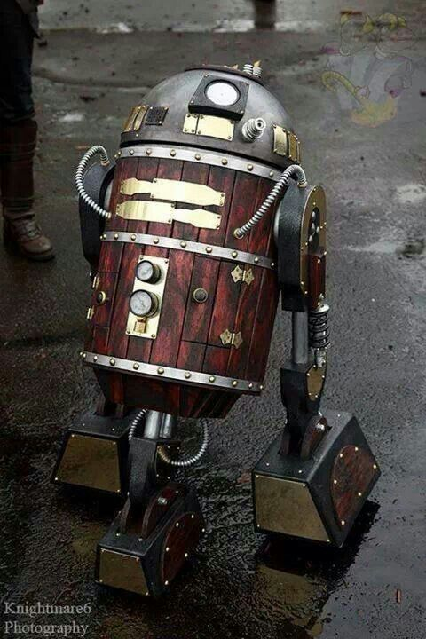 Not exactly cosplay but a steampunk R2D2 is pretty cool
