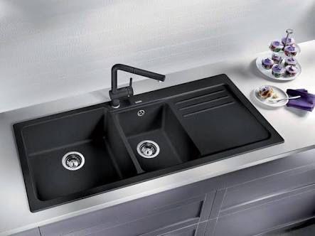 Blanco double sink black