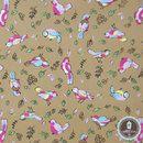 Katoenen stof Mooie stof, 100% hoge kwaliteit katoen. Dicht geweven. Perfect voor kussens, dekbedden, dekens, decoratieve artikelen, speelgoed en andere projecten.  Kleurrijke vogels OP DE...