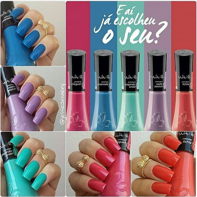 Quem aqui é apaixonada pelos esmaltes da @vult_cosmetica? ❤ Todas as cores estão disponíveis em nosso site:  www.candyacessorios.com.br Unhas maravilhosas da @jessicariviery  #lojacandyacessorios #vult #candyacessorios