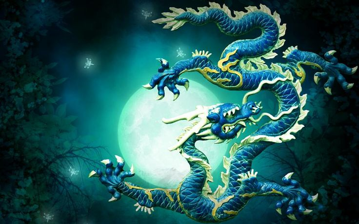 Flying Chinese Dragon/ Blue | Chinese Dragons | Pinterest