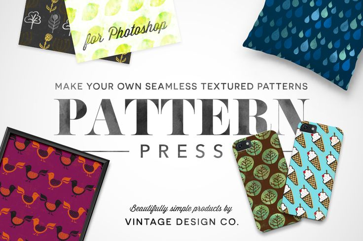 PatternPress - Pattern Creator by Vintage Design Co. on Creative Market