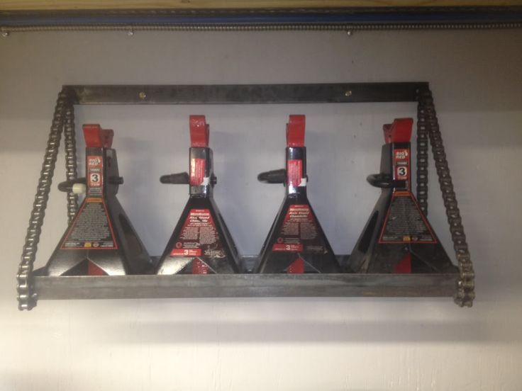 Really Cool Jackstand Rack Garage Garage Tool Storage