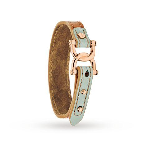 Fossil D-Link Leather Bracelet