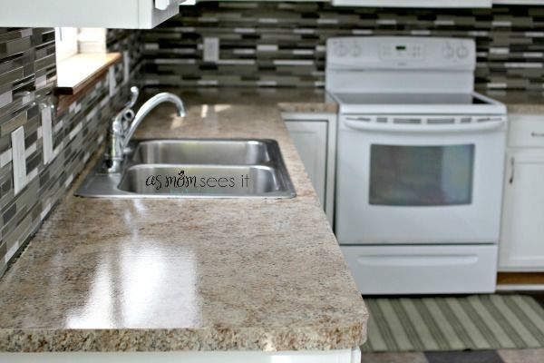Project: Kitchen Remodel, the look of granite for less | As Mom Sees It
