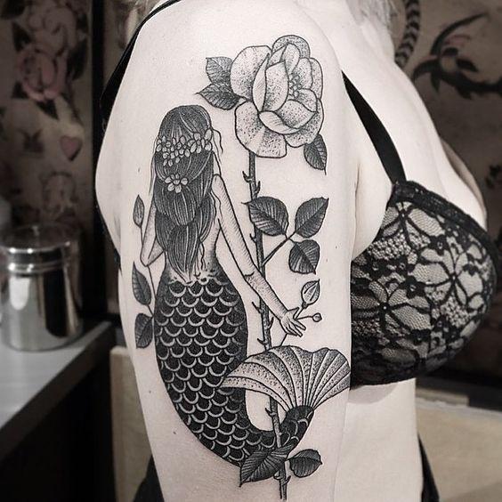 Tatuagens de sereia para se inspirar - Linda e Graciosa