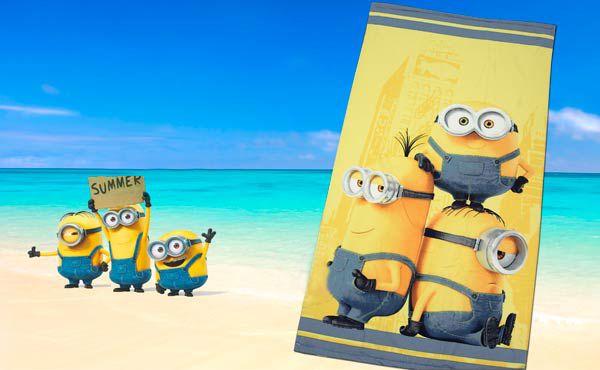 Comprar toalla playa Minions YA!!! El regalo perfecto para que los pequeños deslumbren en la playa y piscina con nuestros amigos de animación de la nueva película de Universal. En Blanco Número Uno pensamos también en ellos para que pasen sus vacaciones disfrutando. Feliz Vacaciones!! http://goo.gl/O4OYFO