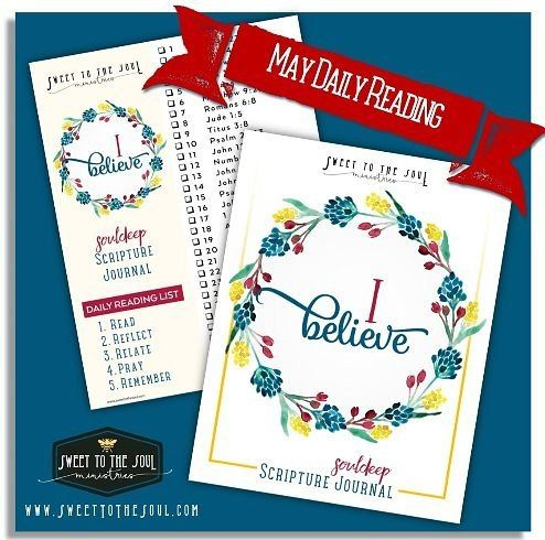 Our newest #SoulDeep Scripture Journal - #IBelieve is now in the shoppe.  You get:  69 page scripture journal pre-printed with each day's scripture  31 day topical daily scripture reading plan  Scripture cards with each day's scripture and  BONUS FREEBIE thru May 21 2016  Luke 1:45 scripture printable  only $5.00 instant download  Then join us at Sweet to the Soul as we discuss the daily scriptures.  Blessings #SoulFriends (Shoppe link in profile)  #souldeep #IBelieve #BibleStudy…