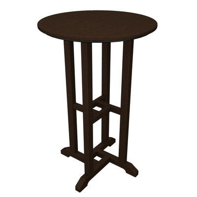 POLYWOOD Traditional Bar Table Finish: Mahogany