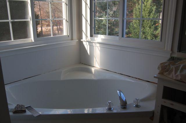17 best images about corner tubs on pinterest massage for Corner garden tub dimensions