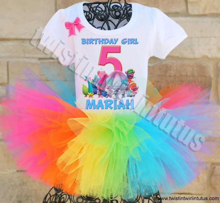 Trolls Birthday Party Ideas | Trolls Birthday Tutu Outfit | Trolls Birthday Shirt | Trolls Party Ideas | Birthday Party Ideas for Girls | Twistin Twirlin Tutus #birthdaypartyideas #trollsbirthday  http://www.twistintwirlintutus.com/products/trolls-birthday-outfit-2