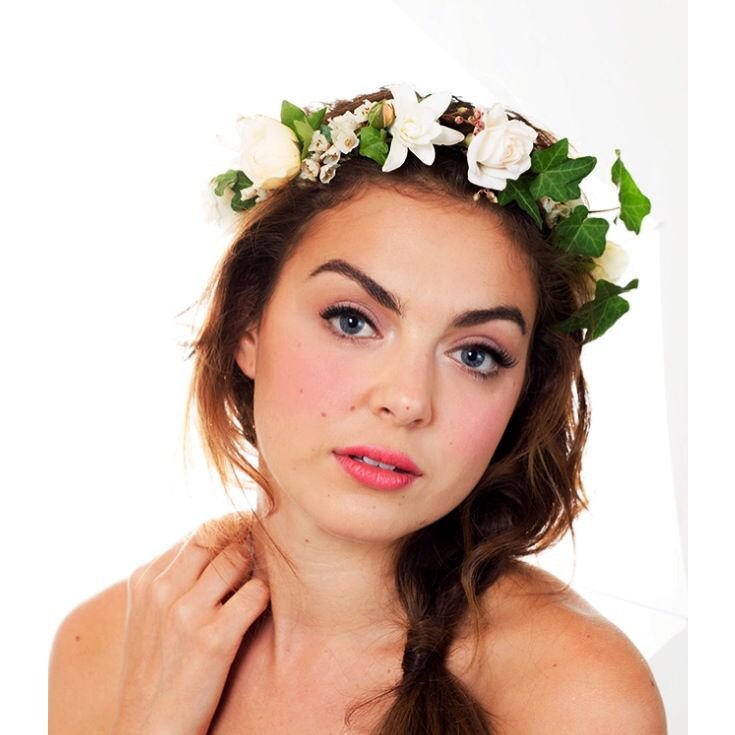 A bespoke flower crown we created for All That Frou Frou. Full of roses, tuberose, clethra & ivy.