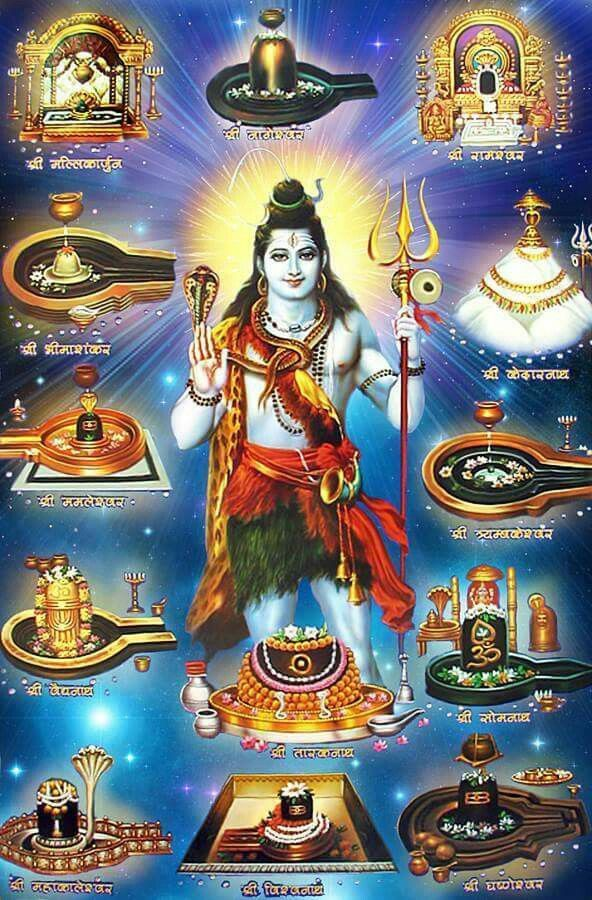Shiv with 12 JoytiLingm