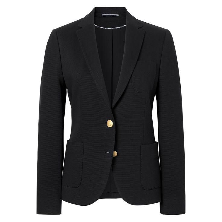 GANT Damen Piqué Stretch Blazer (32) Schwarz Jetzt bestellen unter: https://mode.ladendirekt.de/damen/bekleidung/blazer/sonstige-blazer/?uid=8d671143-c07b-5bd5-82dc-2629c3dbd83a&utm_source=pinterest&utm_medium=pin&utm_campaign=boards #sonstigeblazer #blazer #bekleidung #women