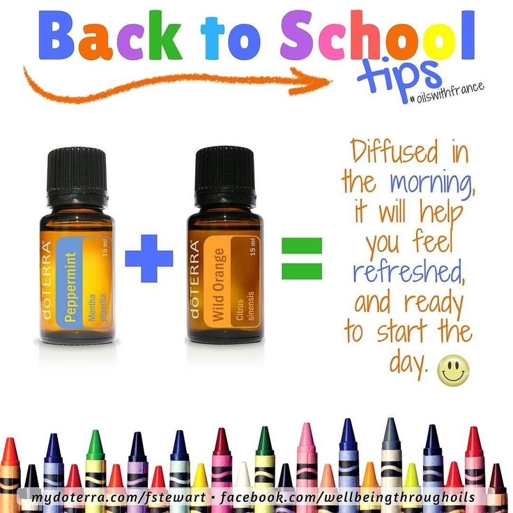 It's #backtoschool time in #Australia ! Yes most go back to school early in February.  This week and into February I will be offering tips on how oils can support our young ones (but shhhhhh... we can all benefit really)! Any questions please ask. Need more info on oils? Get in touch! I'll be happy to assist you.  You can also use this at the office or for a mid-day pick-me-up. Both Peppermint and Wild Orange doTERRA essential oils are ok for internal use so you can use them to flavour…