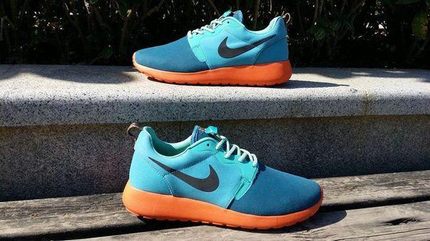 premium selection 9bffa b6a30 2018 Popular Mens Nike Roshe Run Hyperfuse 3M 636220 300 Space Blue Poison  Green Hyper Crimson
