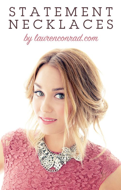 #LaurenConrad's guide to wearing statement necklaces: Lace Tops, Statement Necklaces, Summer Outfits, Laurenconrad, Lauren Conrad, Hair, Summer Clothing, Lace Dresses, Bibs Necklaces