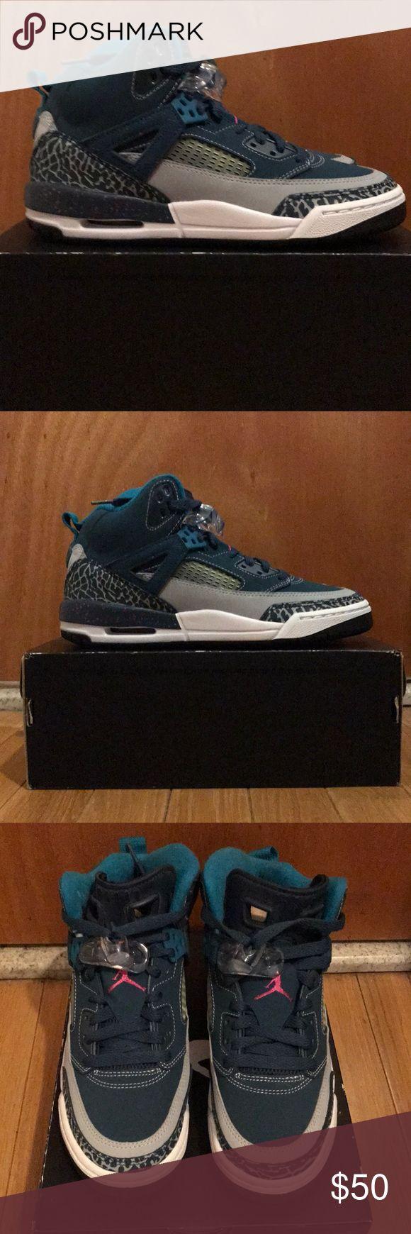 Jordan Spizike Sneakers- Brand new, never worn! Jordan Youth Spizike Sneakers. Space blue/wolf grey/fusion pink. Never worn, brand new. Air Jordan Shoes Sneakers