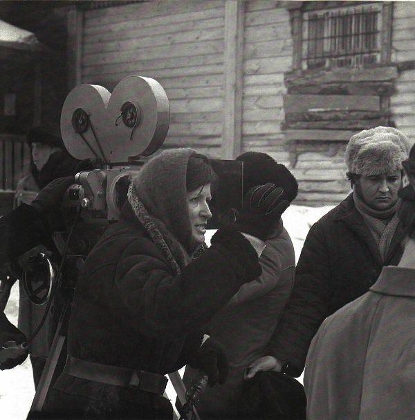"Лариса Шепитько - На съемках фильма ""Восхождение"" 1976 г./ Larisa Shepitko on the set of ""The ascent"""