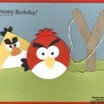 Tarjeta de cumpleaños infantil de Angry Birds