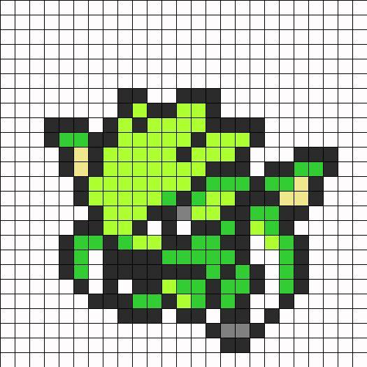Scyther Pokemon Sprite Perler Bead Pattern