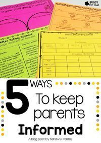 Have you had a parent teacher meeting where the parents were surprised about their child's progress?  Don't let that happen to you!  5 proven ways to keep parents informed!