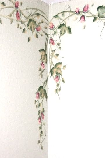 a cascade of rosebud for the wall
