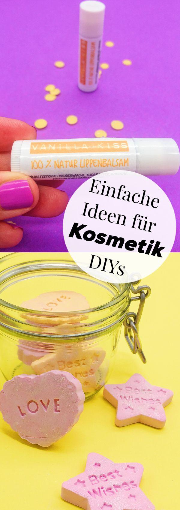 DIY Kosmetik selber machen. Einfache Anleitung und Rezepte. Auch schön als DIY Geschenk Idee zu Weihnachten, zum Geburtstag oder zu jedem anderen Anlass.