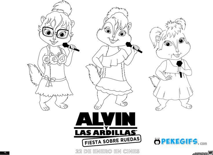 Lujoso Alvin Y Las Ardillas Colorear Páginas Bretaña Bosquejo ...