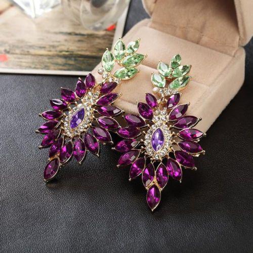New-Hot-Charm-Gorgeous-Elegant-Purple-Nice-Crystal-Drop-Stud-Earrings