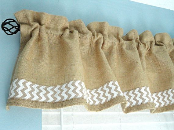 Burlap Valance Window Valance Housewares Window by Solnishko42