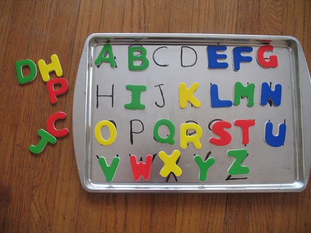 This ABC activity could easily be differentiated by having kids match capital to lowercase.