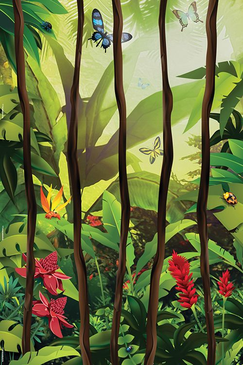 EquippingKids - Jungle Vines Wall Mural - Jungle Safari VBS, $25.49 (http://www.equippingkids.com/jungle-vines-wall-mural-jungle-safari-vbs/)#VBS  #Equippingkids  #Junglesafari