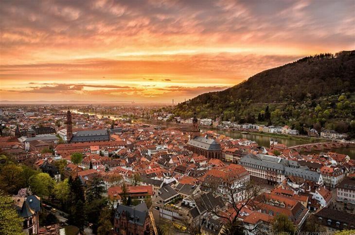 Alemania, Heidelberg Altstadt Casco antiguo de HEIDELBERG