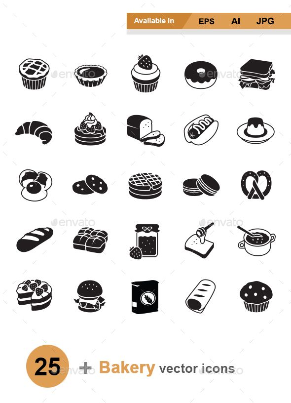 Bakery vector icons