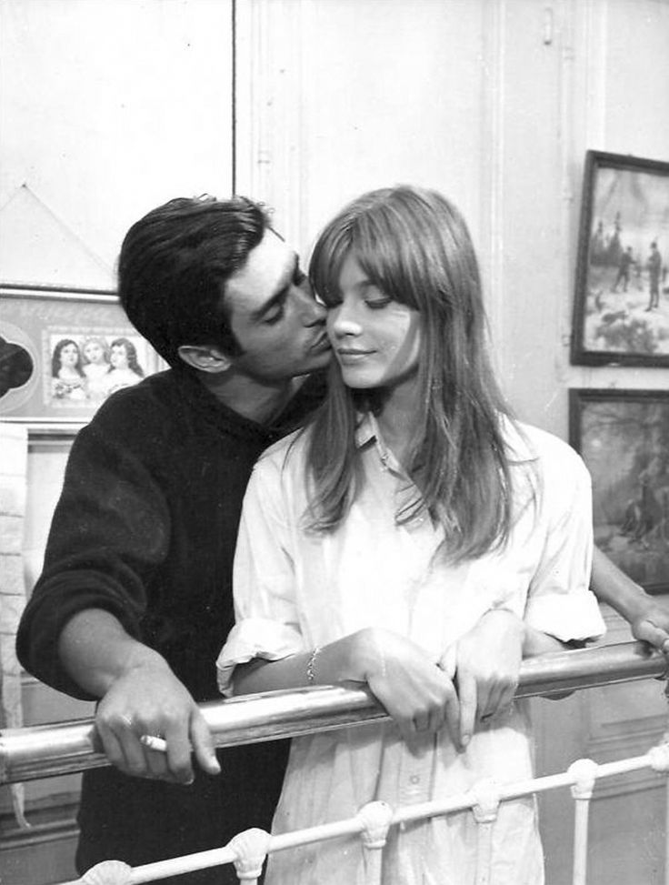 Sami Frey and Françoise Hardy in Une balle au coeur directed by Jean-Daniel Pollet, 1966