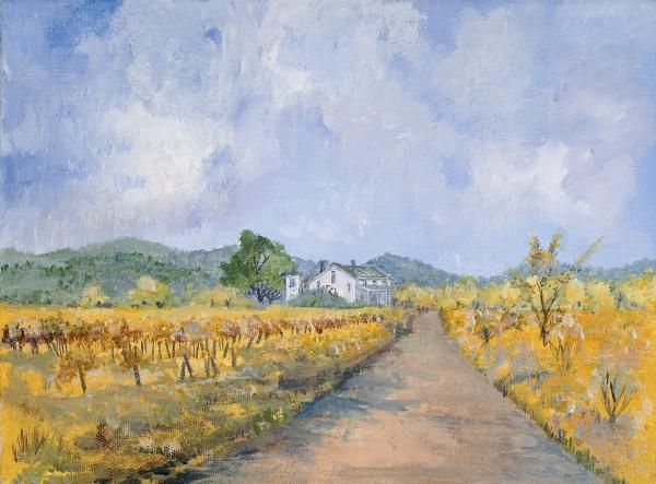 Vineyard Farmhouse by Virginia McLarens..the true story about this painting