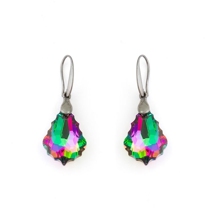 Baroque Drop Earrings in Swarovski Crystal