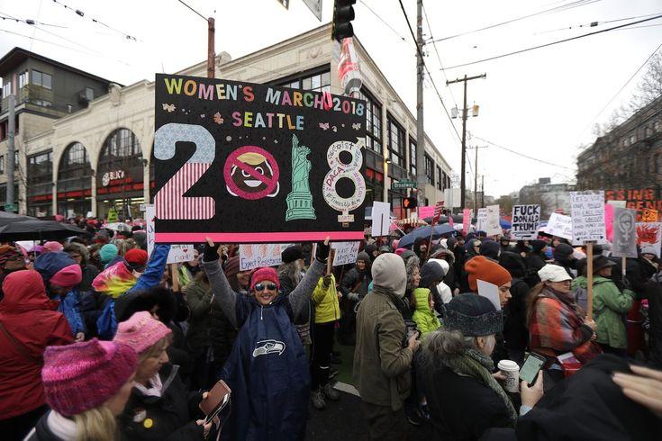 Women's March, 2018, Seattle WA