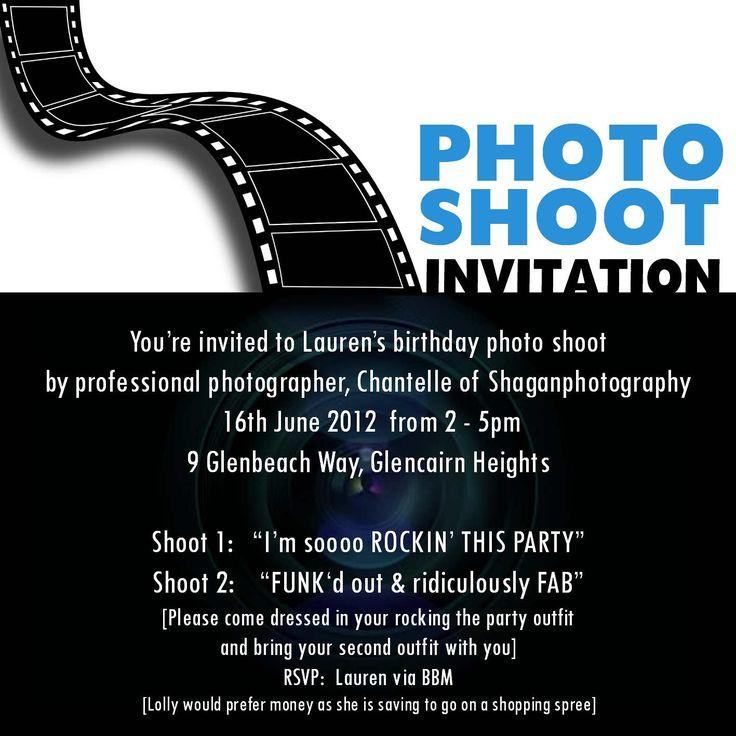 Lauren's 12th birthday invite
