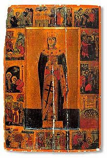 Icon of Saint Catherine of Alexandria, with scenes from her martyrdom.