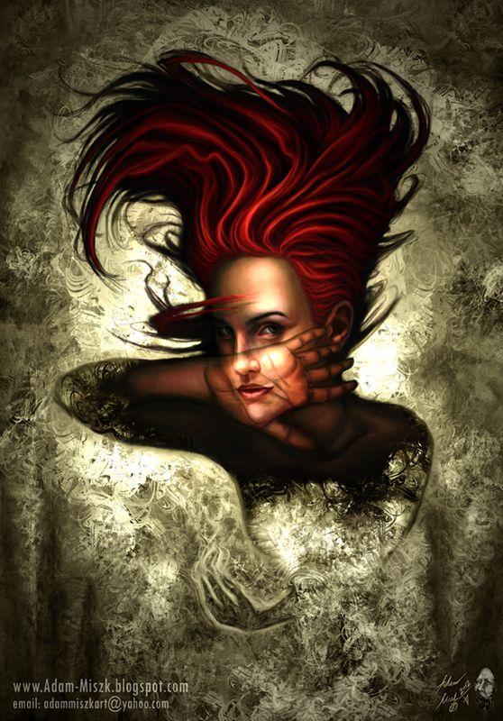 'Ephemera' by Adam Miszk   #visionaryart #art #digital #contemporaryart #dmt #illustration #fineart  #digitalart #painting #horrorart #psychedelic