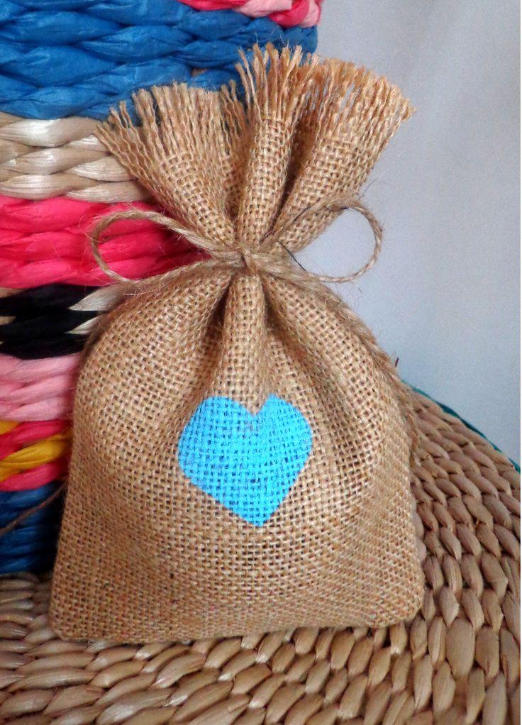 M s de 25 ideas incre bles sobre adornos de arpillera para - Saco de arpillera ...