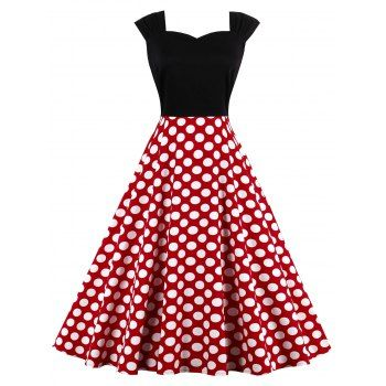 SHARE & Get it FREE | High Waist Sleeveless Polka Dot 50s DressFor Fashion Lovers only:80,000+ Items·FREE SHIPPING Join Dresslily: Get YOUR $50 NOW!