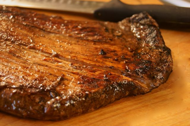 Post image for Grilled Coffee Balsamic Flank Steak  http://cookingontheweekends.com/2013/01/grilled-coffee-balsamic-flank-steak/