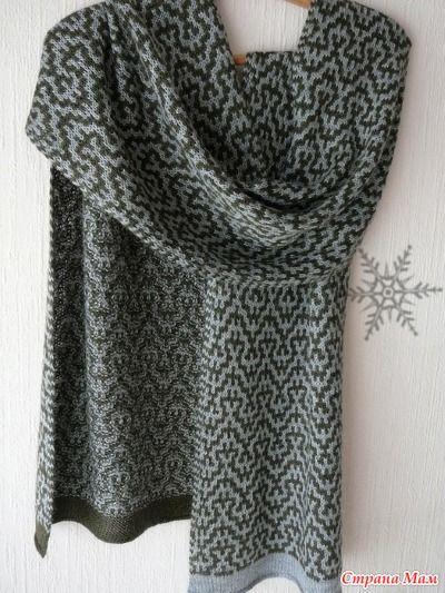 Симпатичный рисунок ленивым жаккардом можно использовать не только для шарфа. Успехов!