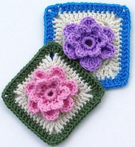 "Free Pattern  Ravelry: Lady's Rose - 6"" square pattern by Melinda Miller"